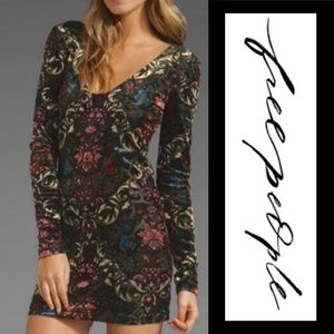 Free People Burnout Floral Dress!